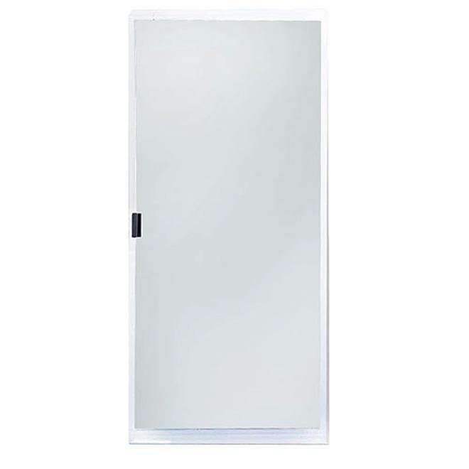 """Adjustable Patio Screen Door 30"""" - White"""