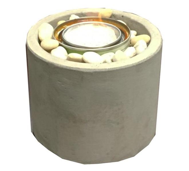 Brûleur de jardin Paramount au carburant gélifié, 6,3 po, argile, couleur béton