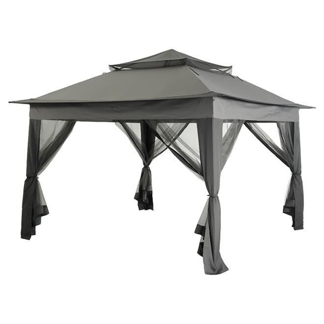 Pop-Up Sun Shelter - 10' x 10' -  Black/Grey
