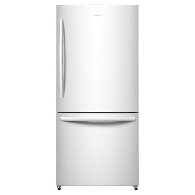 """Réfrigérateur à congélateur inférieur, 31"""", 17,0 pi³, blanc"""