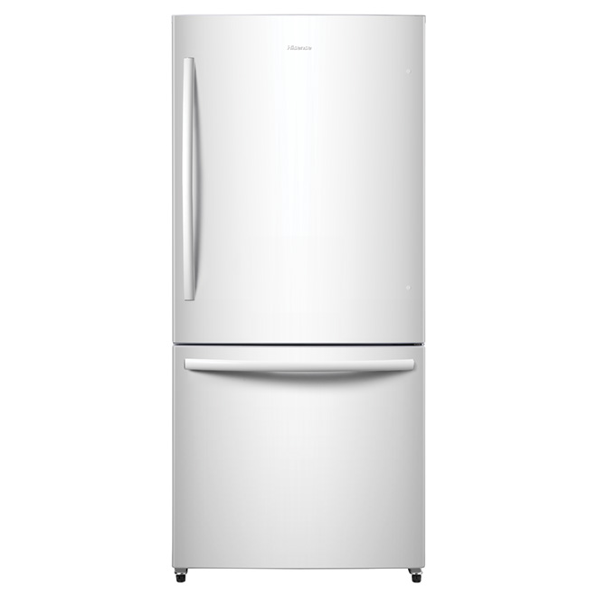 "Bottom-Freezer Refrigerator - 31"" - 17 cu. ft. - White"