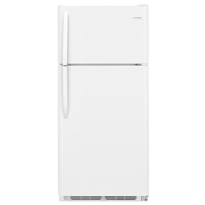 Réfrigérateur à congélateur supérieur, 18 pi³, blanc