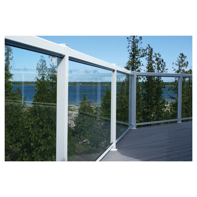 "Tempered Glass Railing Panel - 24"""