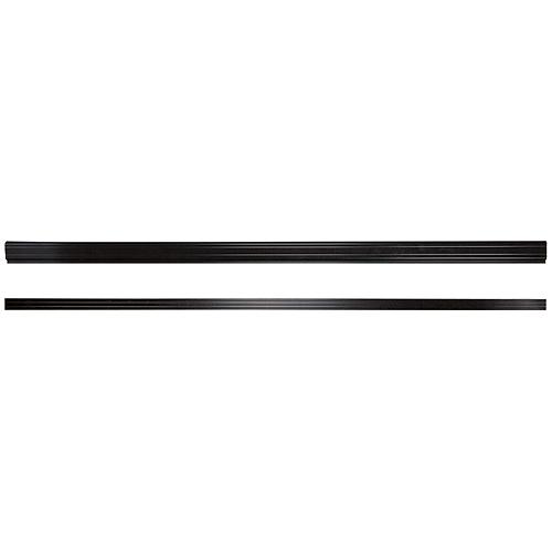Exterior Top and Bottom Railings 12' - Black