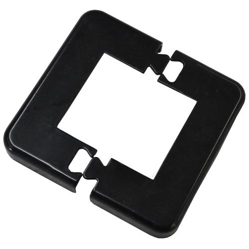 Couvercle de plaque d'assise, noir