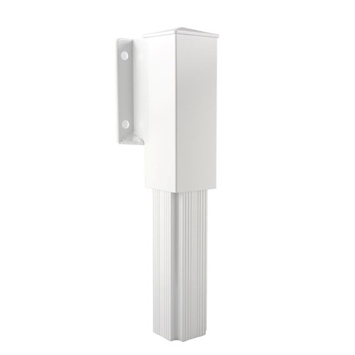 Sidemount Railing Bracket - White