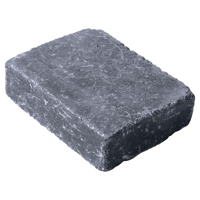 Pavé, Roman, 7'' x 3'' x 2'', gris anthracite