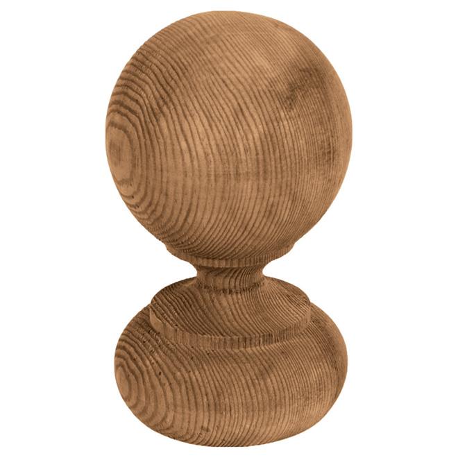 Capuchon de poteau Georgien en bois traité, brun