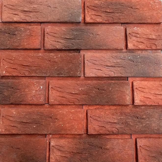 Brique Decora, Churchill, 2,87'' x 8,66'', rouge