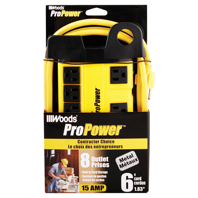 8-Outlet Power Bar for Workshop