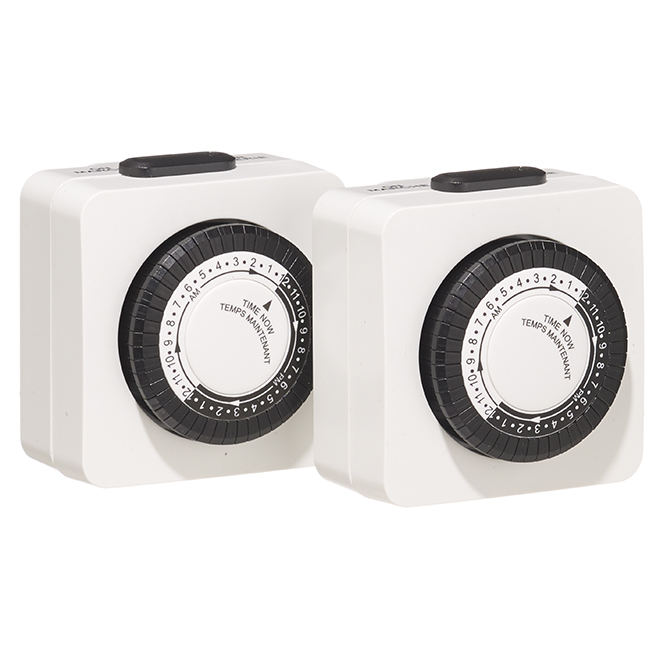 Timer - Programmable 24 Hours - 2 Pack
