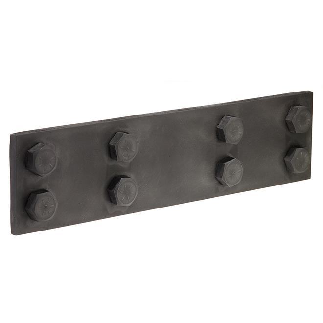 Plaque de vis, imitation acier, gris