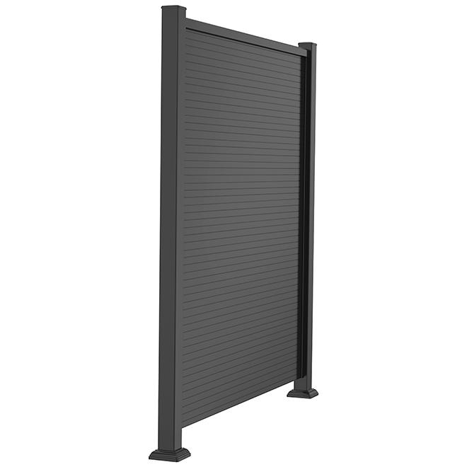 Panneau d'intimité en aluminium, 46'' x 61'', noir