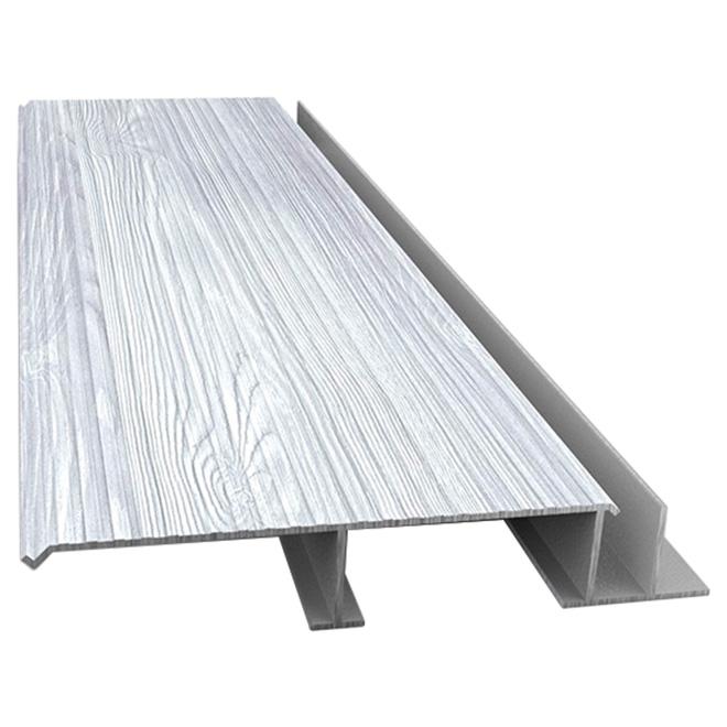 Planche en aluminium pour terrasse, style bois de grange, 12'