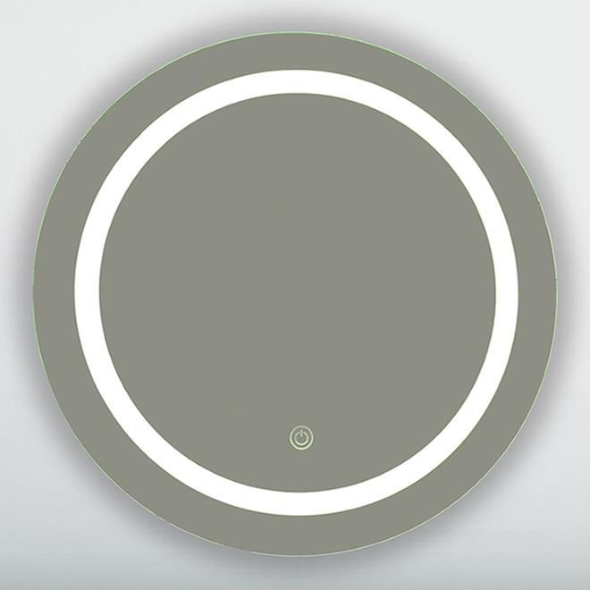 Miroir DEL Soho, 28 po x 28 po, clair