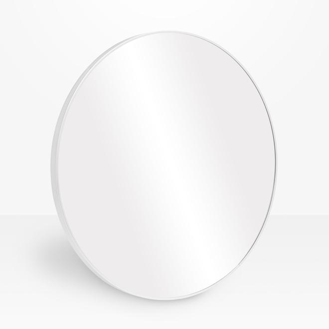 Miroir rond Emerson en métal, 24 po, chrome