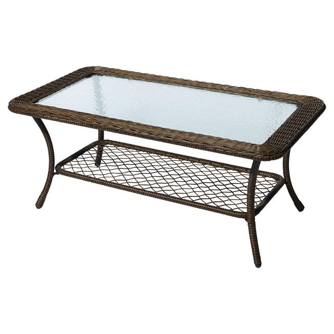 """Table à café de patio Spruce Hills, 42"""" x 17"""""""