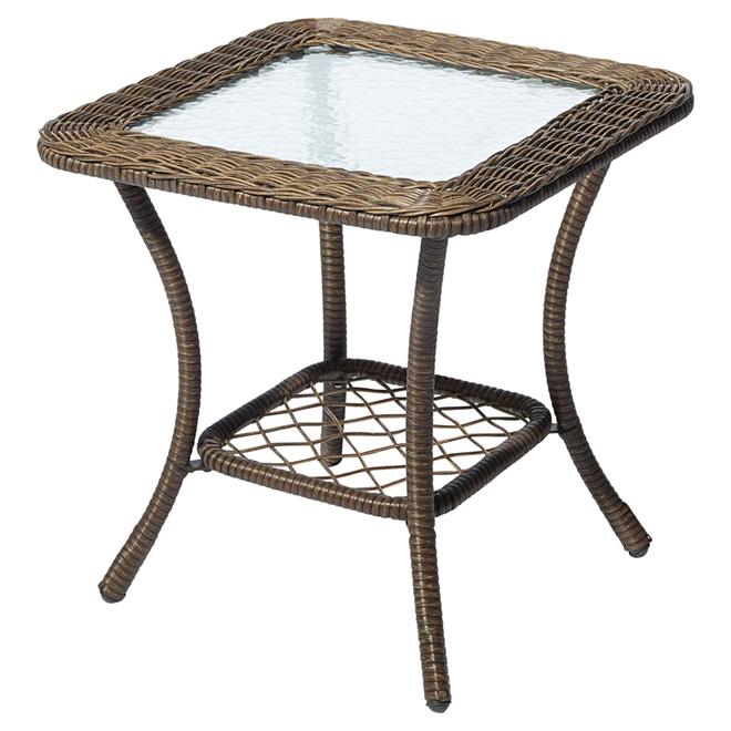 "Table d'appoint pour patio Spruce Hills, brun, 20"" x 20"""