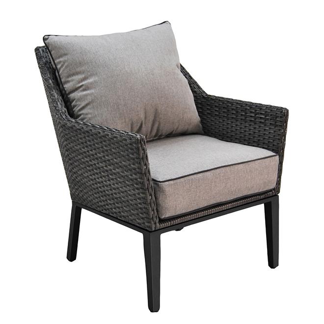 Patio Armchair Set   Manhattan   Black/Grey   Set Of 2