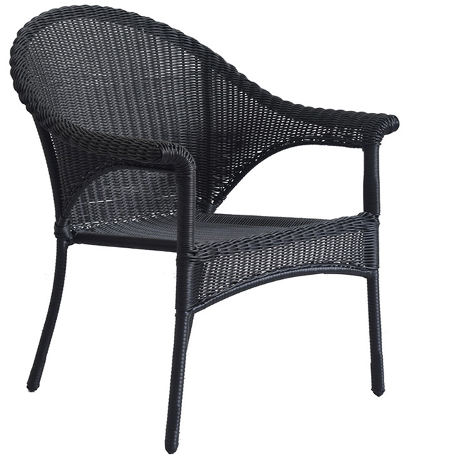 Awe Inspiring Wicker Patio Chair Stackable Black Home Interior And Landscaping Eliaenasavecom