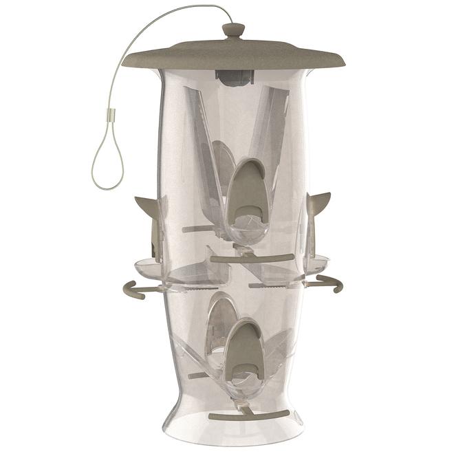 Mangeoire à oiseaux Abundance de Stokes, plastique, 3,5 lb, clair