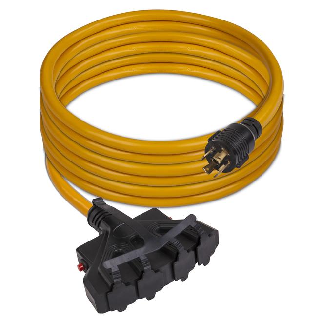 Câble d'alimentation Firman, 25 pi, 30 A, L14-30P à 5-20RX4