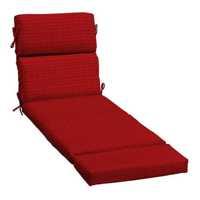 coussin chaise longue rouge Coussin tissé pour chaise longue, haute qualité, rouge | Réno Dépôt coussin chaise longue rouge