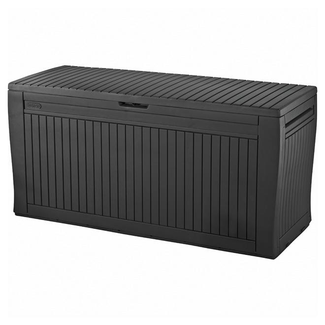 Coffre de rangement extérieur Comfy, résine, 269litres, gris