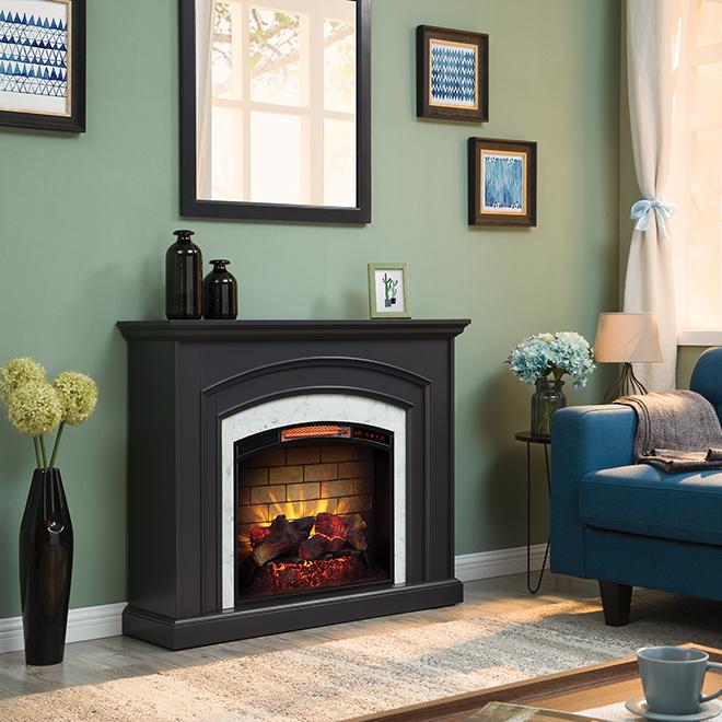 Foyer électrique, chaleur infrarouge, 1500 W