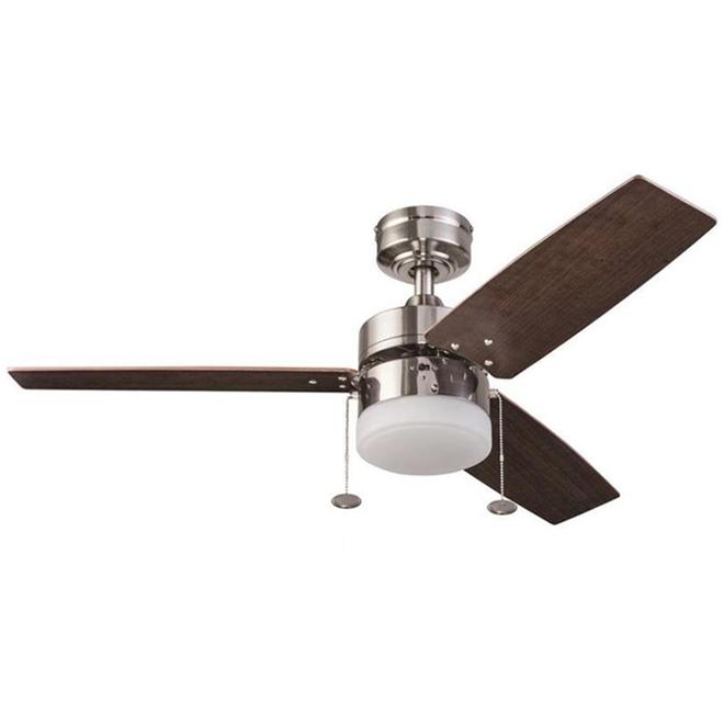 Ventilateur de plafond Orim de Prominence Home, 3 pales réversibles, auburn et argenté, 42 pouces de diamètre