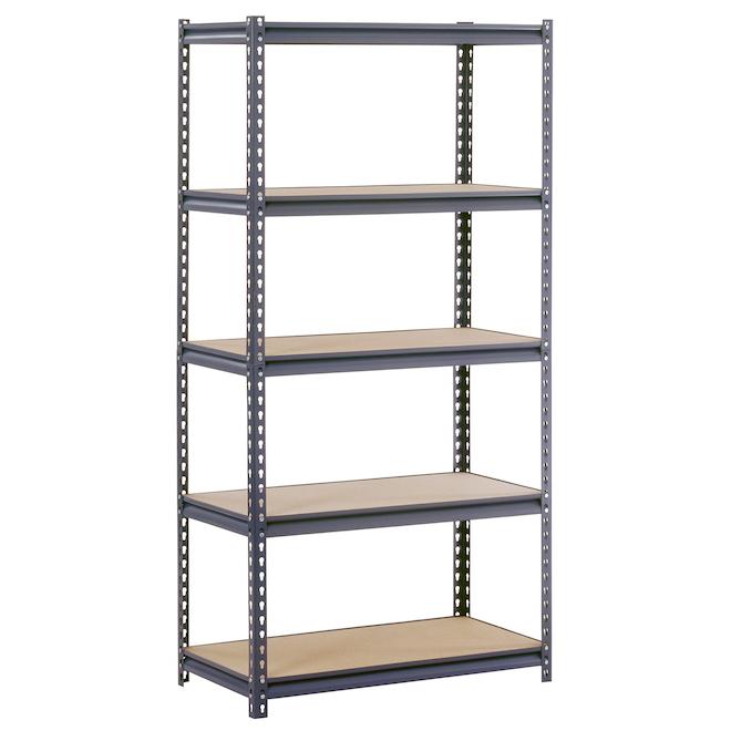 Muscle Rack 5-Tier Freestanding Shelving Unit - Steel - 72-in x 36-in x 18-in - Black