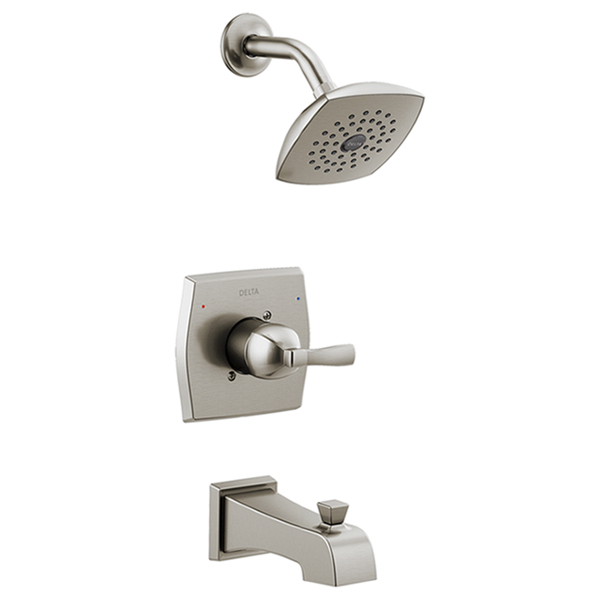 Robinet de bain et de douche Flynn Delta à 1 poignée avec vanne, acier inoxydable