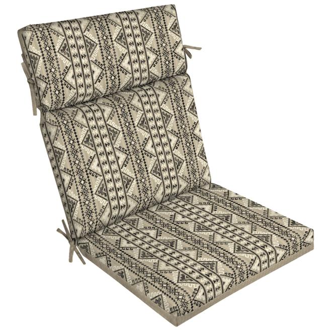 Coussin Southwest de Style Selections pour chaise à dossier haut, 44 po x 21 po, beige