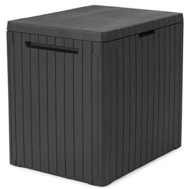Coffre de rangement City Box de Keter, 30 gal, résine, gris