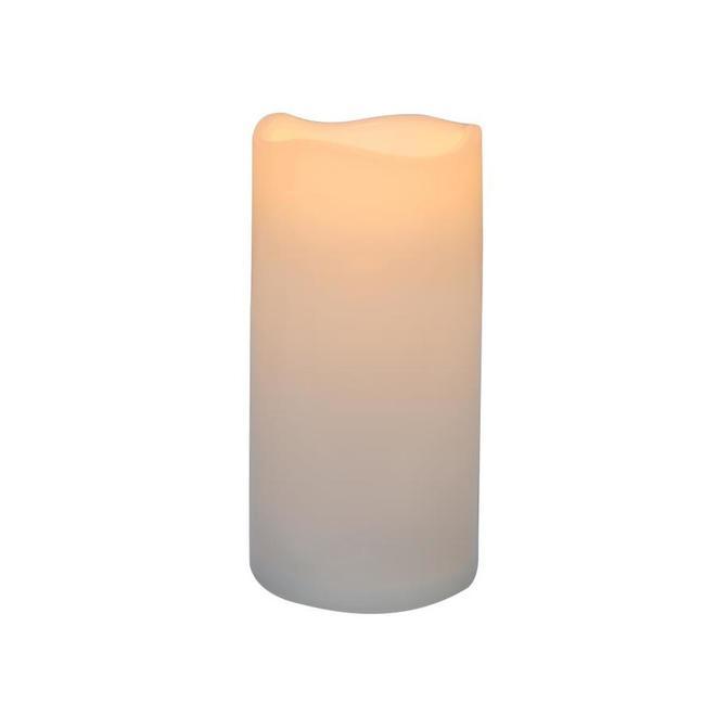 Chandelle sans flamme intérieur et extérieur Danson Decor à lumière DEL vacillante, 3 po x 6 po, blanc