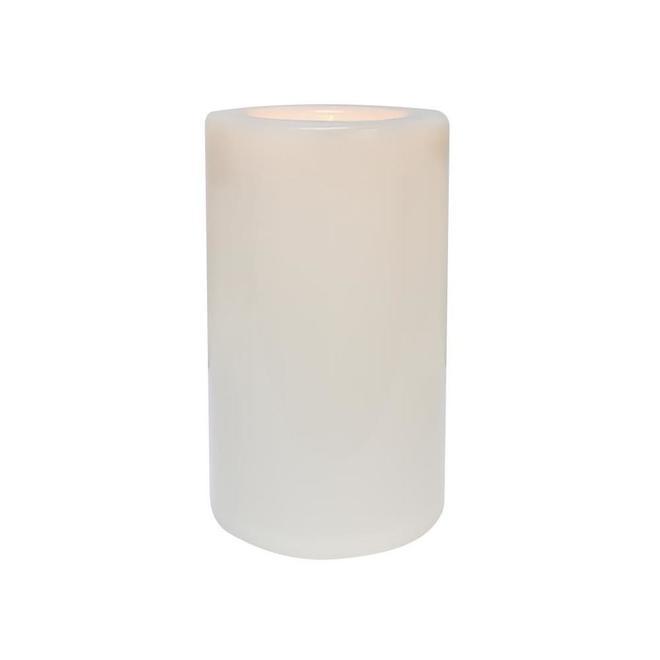 Chandelle sans flamme d'intérieur et extérieur Danson Decor à lumière DEL clignotante, 6,5 po x 10,6 po, blanc