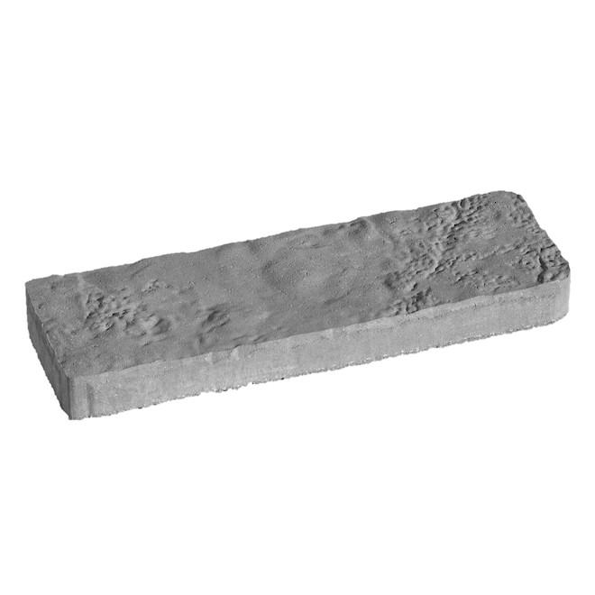 Dalle Tivoli en béton 24 po Permacon, nuancé gris et charbon