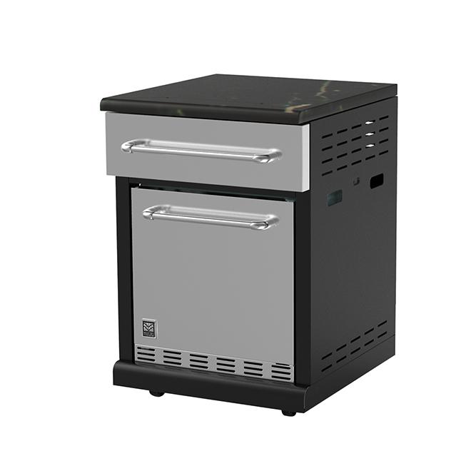 Réfrigérateur modulaire, 71,6l, noir et acier inoxydable