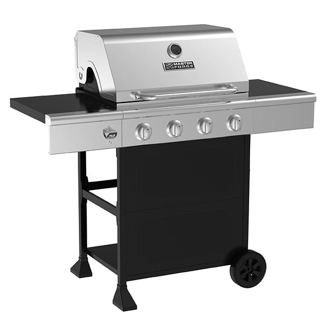 Barbecue au gaz propane, 44 000 BTU, 610 po², argent et noir