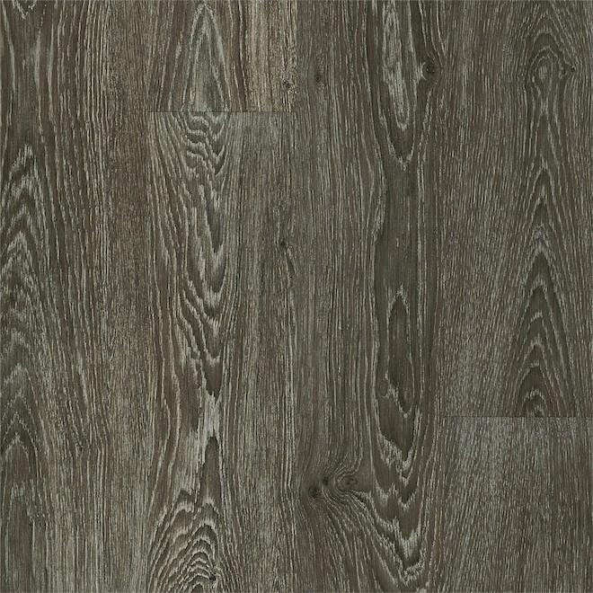 Plancher de vinyle PRO MARK Westfield, 6 po x 36 po, 35,95 pi², chêne chocolaté, 24/bte
