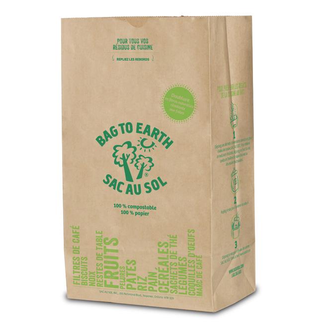 Grands sacs à ordures en papier recyclé biodégradable