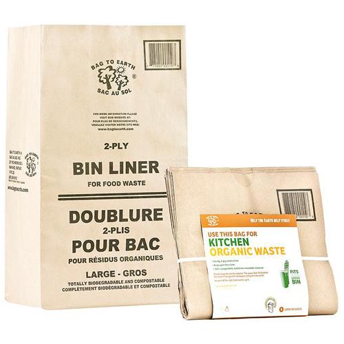 Doublures pour bac de résidus organiques, paquet de 5