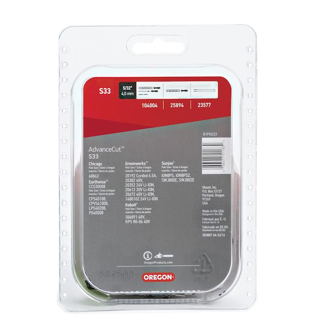 Chaîne pour scie à chaîne Oregon AdvanceCut S33, 8 po