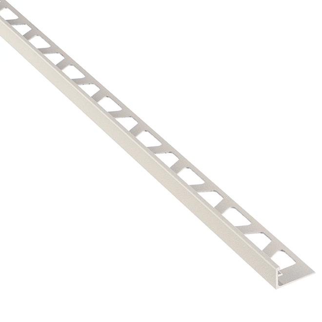 """Moulure en aluminium pour tuiles, 8' 2,5"""" x 1/2"""", grège"""