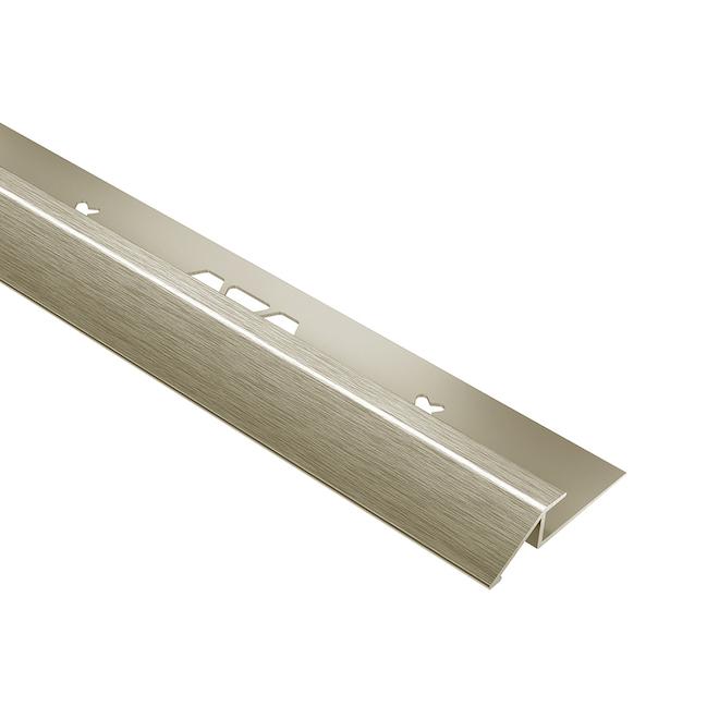 Moulure de tuile Schluter Systems VINPRO-U, 0,188 po, nickel brossé