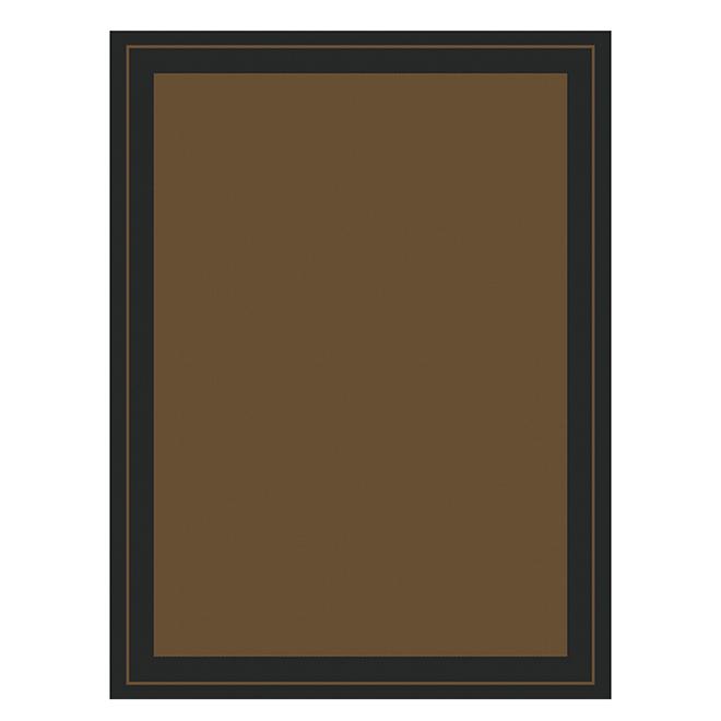 Tapis extérieur New Haven Allen + Roth, polypropylène, 5 pi x 7 pi, brun et noir