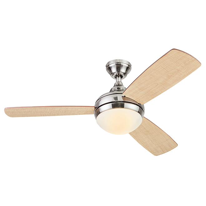 Harbor Breeze Sauble Beach Ceiling Fan - 3 Reversible Blades - Nutmeg and Natural - 44-in dia