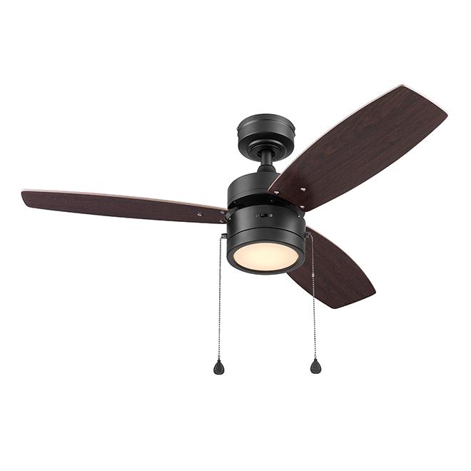 Harbor Breeze Ceiling Fan - 3 Reversible Blades - Oak and Chestnut - 42-in dia