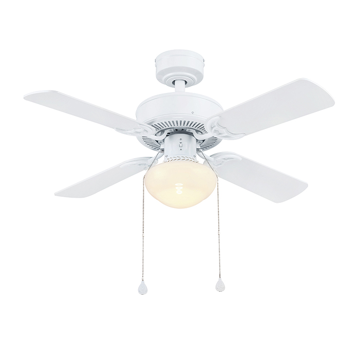 Harbor Breeze Ceiling Fan - 4 Reversible Blades - White and Driftwood - 36-in dia