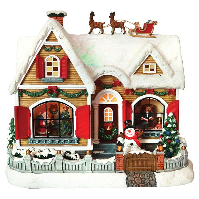 Maison de Noël en polyrésine
